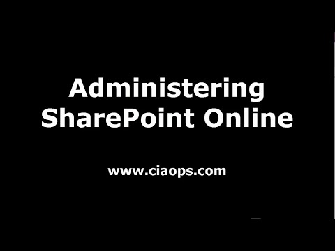 Administering SharePoint Online - YouTube