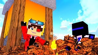 ОБУЧАЮ ТЕРОСЕРА ИГРАТЬ В БИТВУ ПЕЧЕНЕК! БИТВА ПЕЧЕННЫХ БАШЕН! Minecraft