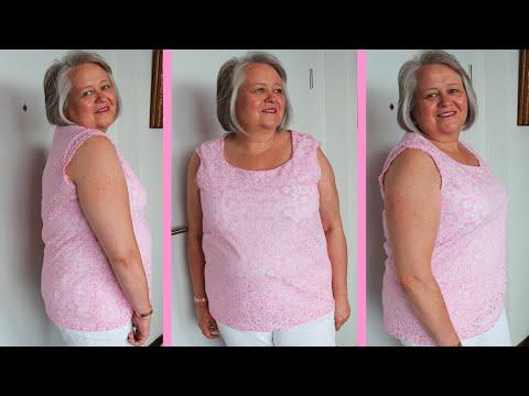 T-Shirt aus Spitze mit Futter nähen | mit Schnittmuster | Shirt-Lacy Rose