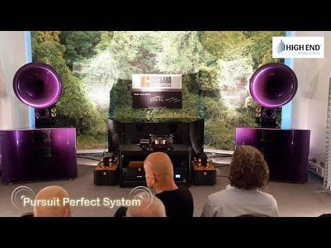 Cessaro Horn Acoustics New Speakers @  High End Munich 2018 HiFi Show