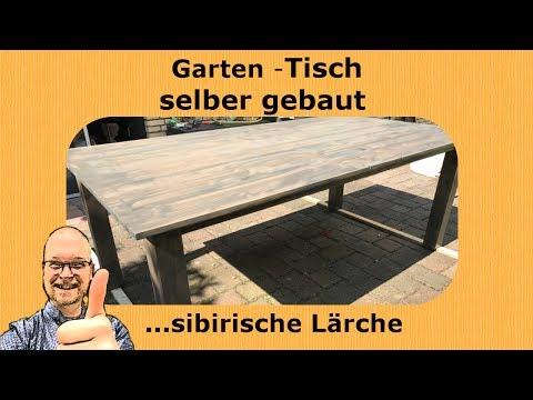 DIY: Terrassen -Tisch / Gartentisch selber gebaut (sibirische Lärche, Echtholztisch)