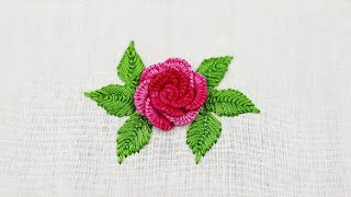Hand Embroidery- Cast On Stitch Rose Embroidery Design | Brazilian Embroidery