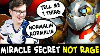 Miracle tells SECRET how to NOT RAGE — is he robot?