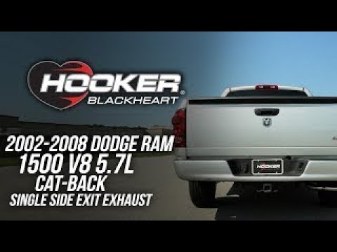 2002-2008 Dodge Ram 1500 V8 5.7L - Hooker Blackheart Cat-Back Single Side Exit Exhaust 70502446-RHKR