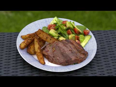 Easy BBQ Citrus Marinated Beef Steaks