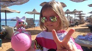 ВЛОГ Летим в Египет РУМ ТУР номера Открываем ШАР сюрприз с куклой ЛОЛ LOL Surprise перезалив