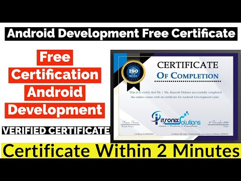 Android Development Free Certificate From ITRONIX SOLUTIONS ...