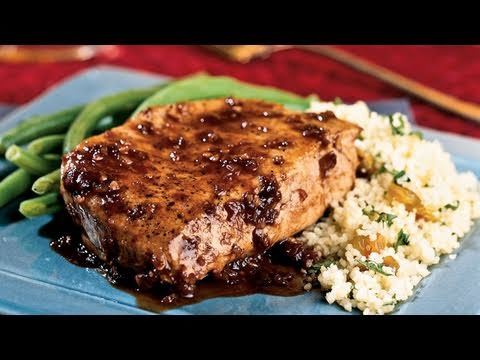 Balsamic Plum Glazed Pork Chop Recipe