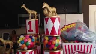 Twins 1st Birthday Vintage Circus- DIY Centerpieces/DIY Cake Stands/Goodie Bags- TwinMomPlus1