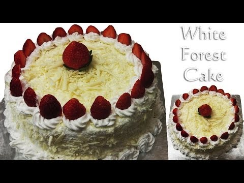White Forest Cake – Cooker Cake Eggless-Without Condensed Milk Eggless Baking Without Oven