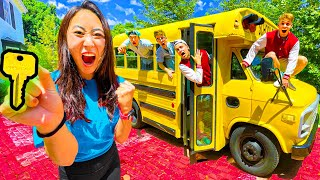 I TRAPPED THE BOYS IN A SCHOOL BUS!!