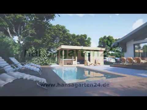 Gartensauna Modern Paula 12,5m²