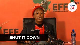WATCH | Julius Malema gives Minister Angie Motshekga 7 days to close schools