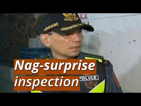 [GMA]  UB: NCRPO Chief Eleazar, nag-surprise inspection; pulis, akmang bubunot ng baril nang maalimpungatan