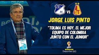 Millonarios 1-2 Tolima: Jorge Luis Pinto, Rueda De Prensa I Deportes RCN