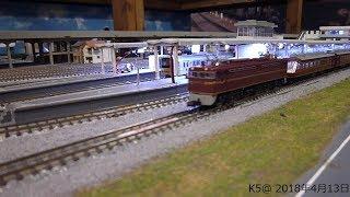 Nゲージ鉄道模型 レンタルレイアウト (EF65ゆうゆうサロン+サロンエクスプレス東京)