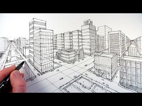2 Noktalı Perspektif Çizimi