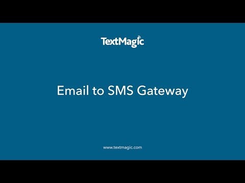 Email to SMS Gateway - TextMagic