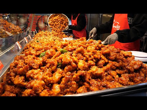 spicy! sweet and sour chicken – korean street food