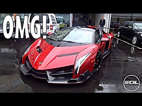 £3.4 Million Lamborghini Veneno Roadster: SPACESHIP SUPERCAR!