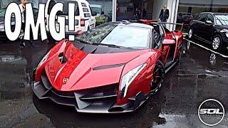 £3.4 Million Lamborghini Veneno Roadster: SPACESHIP SUPERCAR!