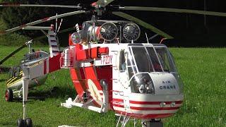 RC Skycrane Italy Fire Fighter Sikorsky S-64F (Vigili del Fuoco) Turbine Scale Model Helicopter