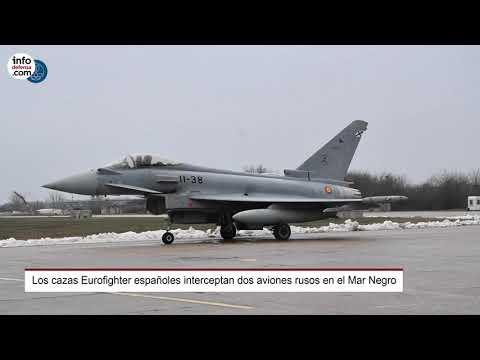 Los Eurofighter españoles interceptan dos cazas Su-30 rusos en el Mar Negro
