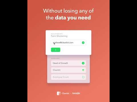 Shorten Your Hubspot Forms Without Losing Data Clearbit For Hubspot