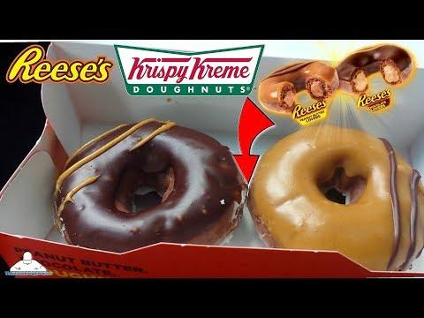 Krispy Kreme® | Original Filled REESE'S® Lovers Doughnuts Review! 🥜🍫🍩