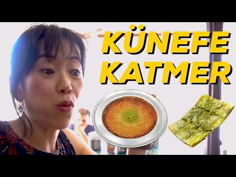 Koreliler KÜNEFE ve KATMER Deniyor! Turkish Desserts You Must Try | Künefe and Katmer