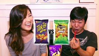 Spicy Rolled Tortilla Chip Taste Test!!