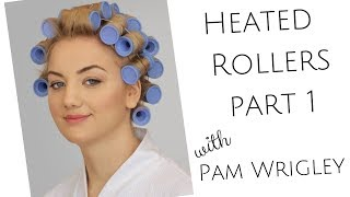 Part 1 Learn How To Set The Hair In Heated Rollers & Get A Smooth Sleek Glossy Curl With Hot Rollers