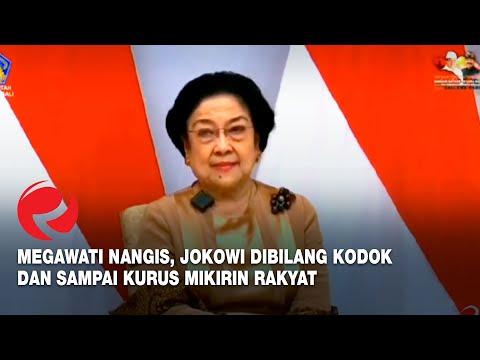 Megawati Nangis, Jokowi Dibilang Kodok dan Sampai Kurus Mikirin Rakyat