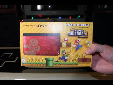 New Super Mario Bros 2 Limited Edition 3DS XL Unboxing