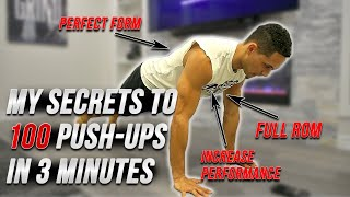 HOW TO DO 100 PUSH-UPS IN 3 MINUTES // Exact Formula Explained
