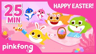 Easter Baby Shark and more   +Compilation   Easter Egg Hunt   Pinkfong Songs for Children