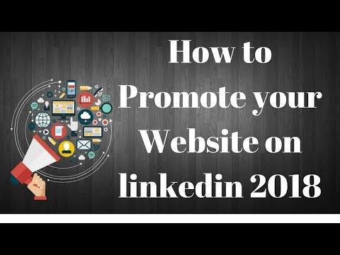 Promote your Website on linkedin