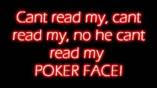 Poker Face - Lady Gaga - LYRICS!!