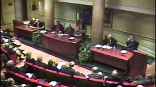 Convegno costi democrazia - Presidente Nicola Mancino