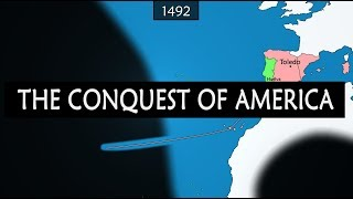 European conquest of the Americas - summary on a map