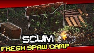 SCUM - Building A Camp (BASE) As Fresh Spawn [ GUIDE ]