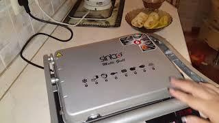электрогриль Simbo. овощи гриль и курочка, правильное питание.