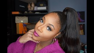 "High ""Ariana Grande"" Sleek Drawstring Ponytail ""Gatow"" – Vanessa"