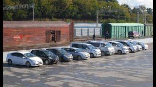 Выгрузка 6 автомобилей Токидоки 23 сентября 2016 г