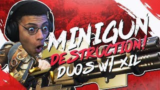 MINIGUN DESTRUCTION! 24 Kills Total w/ Xil (Fortnite BR Full Match)