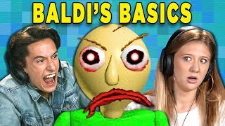 BALDI'S BASICS IN EDUCATION AND LEARNING (Teens React: Gaming) - dooclip.me