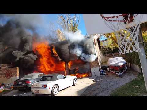 Blazing House Fire! - Layton UT, Sunday Oct 29, 2017