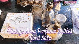 Avon Vintage Perfume Bottles And Avon Vintage Jewelry Yard Sale Day