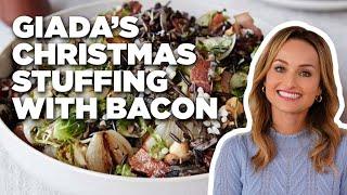 How to Make Giada's Christmas Stuffing with Baco | Giada at Home | Food Network