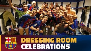 [INSIDE VIEW] Celebration at Bernabeu locker room